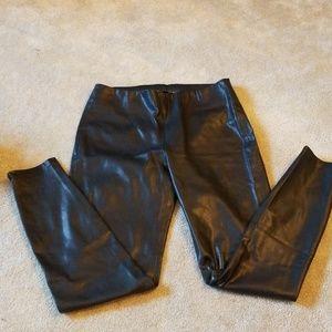 Zara basics faux black leather pants